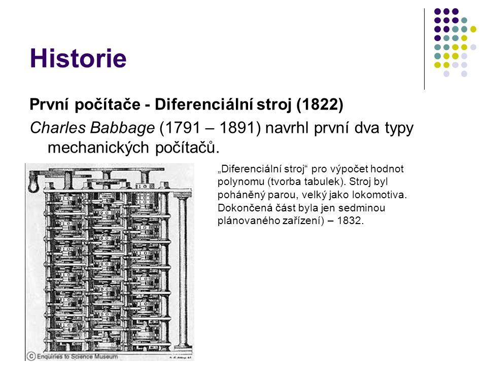Historie První počítače - Diferenciální stroj (1822)