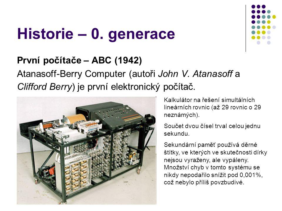 Historie – 0. generace První počítače – ABC (1942)