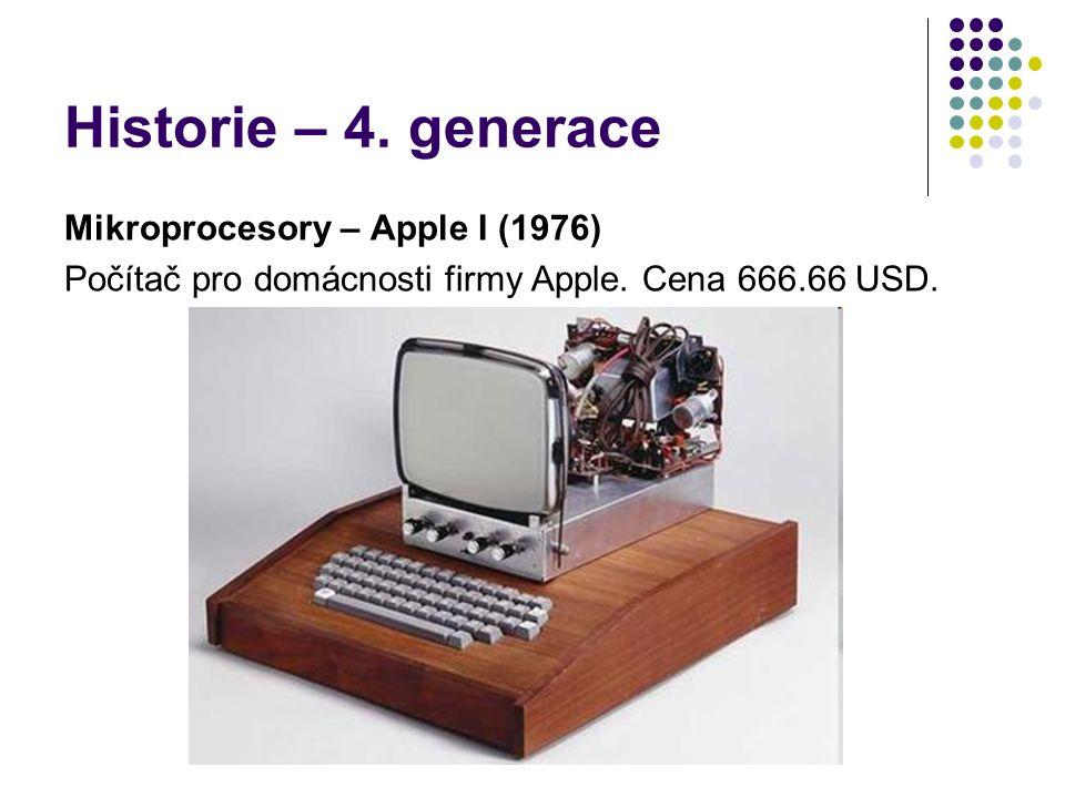 Historie – 4. generace Mikroprocesory – Apple I (1976)
