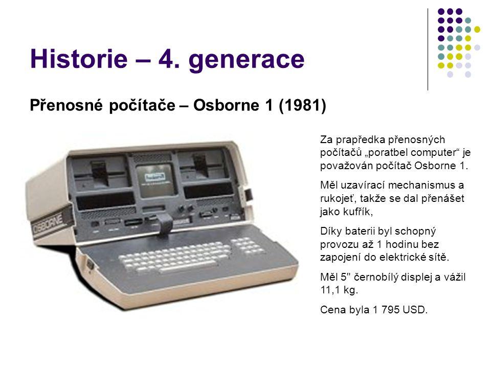 Historie – 4. generace Přenosné počítače – Osborne 1 (1981)