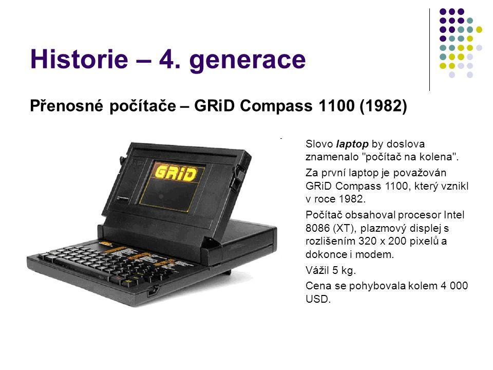 Historie – 4. generace Přenosné počítače – GRiD Compass 1100 (1982)