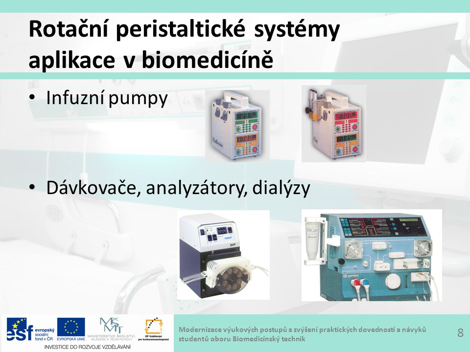 Rotační peristaltické systémy aplikace v biomedicíně