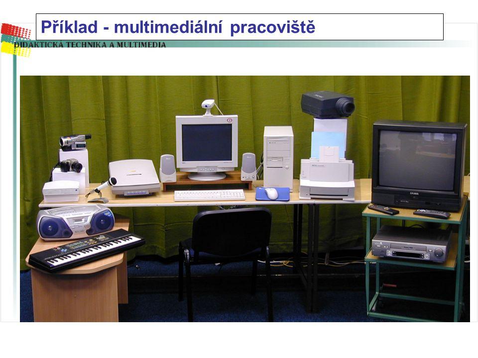 Příklad - multimediální pracoviště