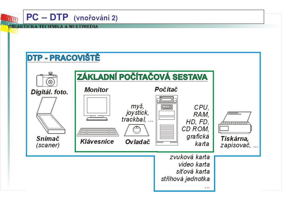PC – DTP (vnořování 2)