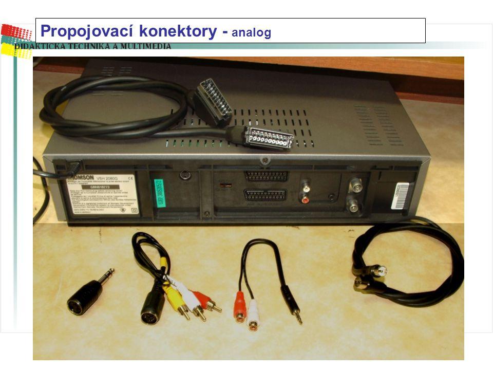 Propojovací konektory - analog