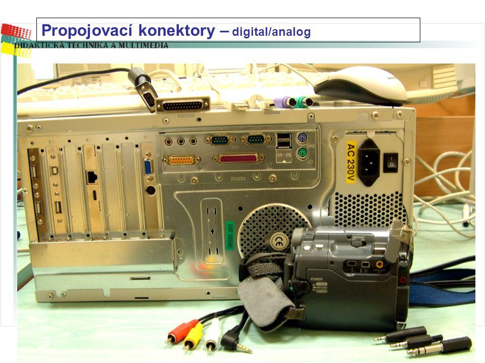 Propojovací konektory – digital/analog