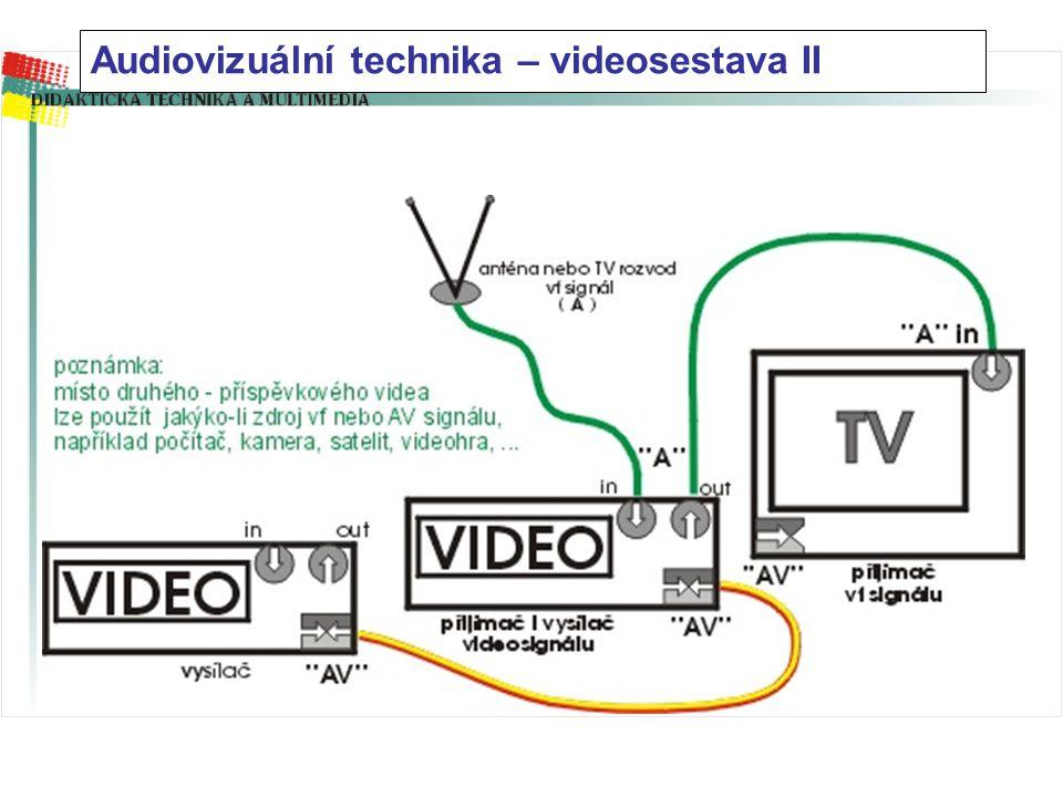 Audiovizuální technika – videosestava II