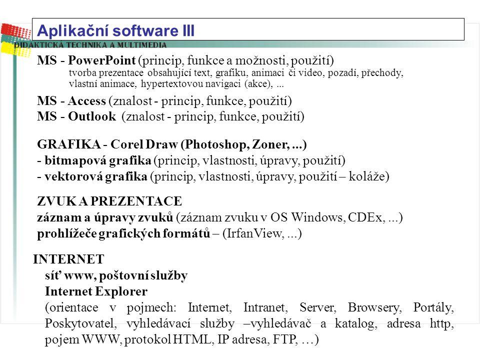 Aplikační software III
