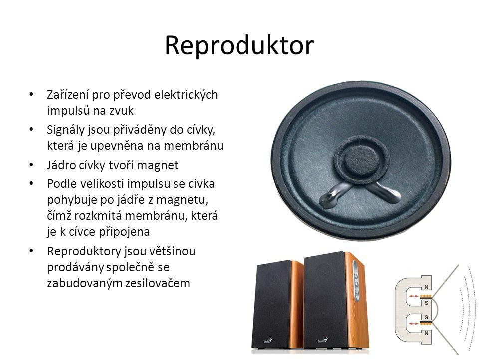 Reproduktor Zařízení pro převod elektrických impulsů na zvuk