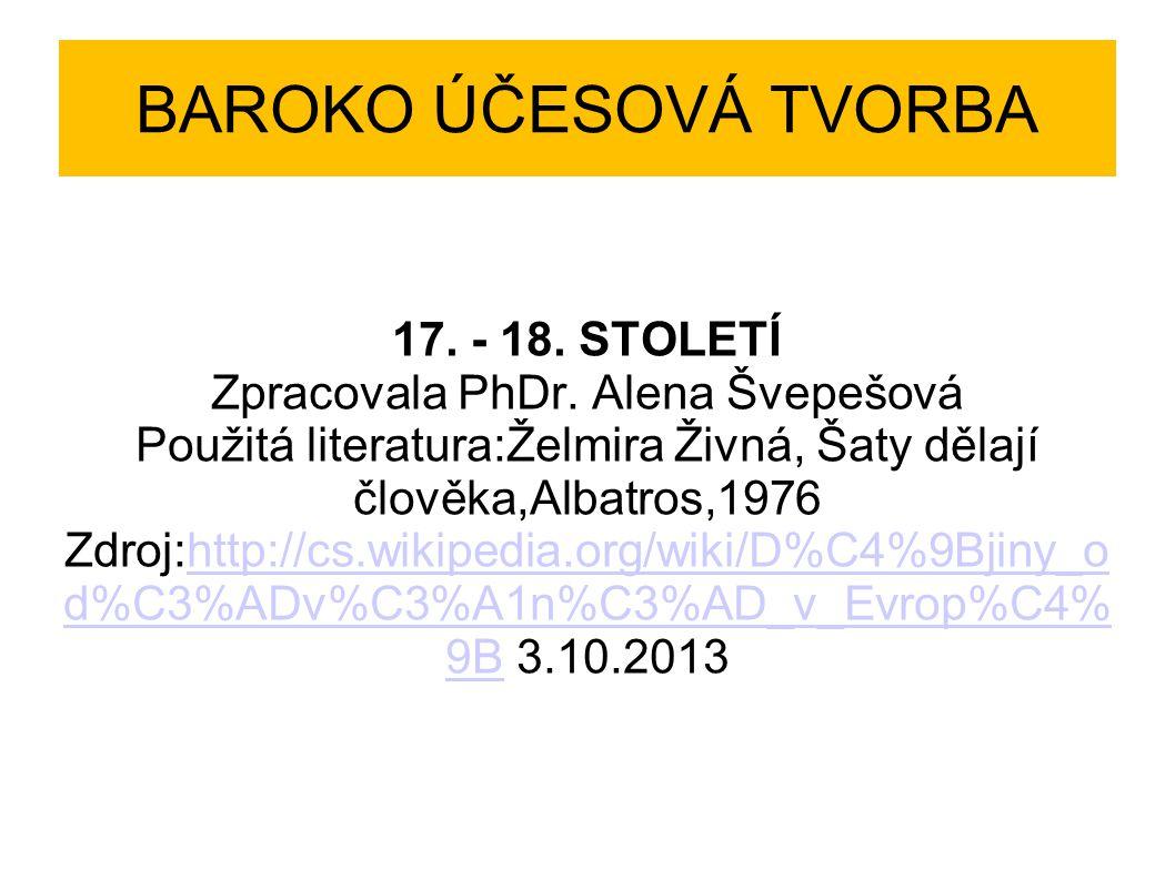 BAROKO ÚČESOVÁ TVORBA 17. - 18. STOLETÍ