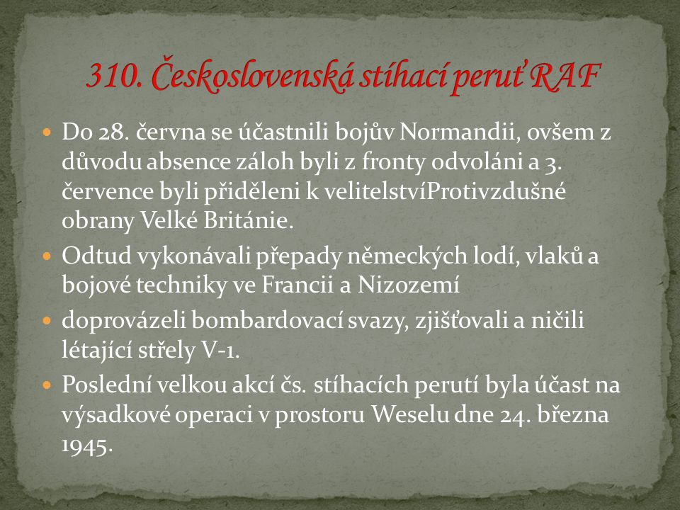 310. Československá stíhací peruť RAF