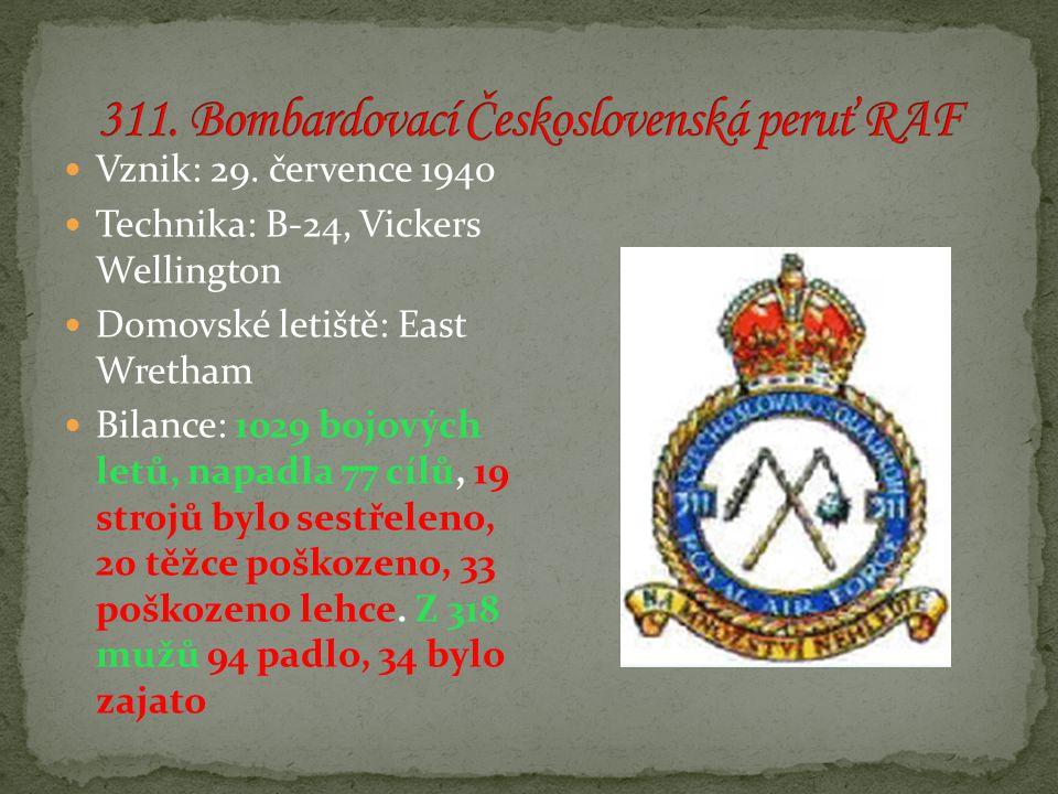 311. Bombardovací Československá peruť RAF