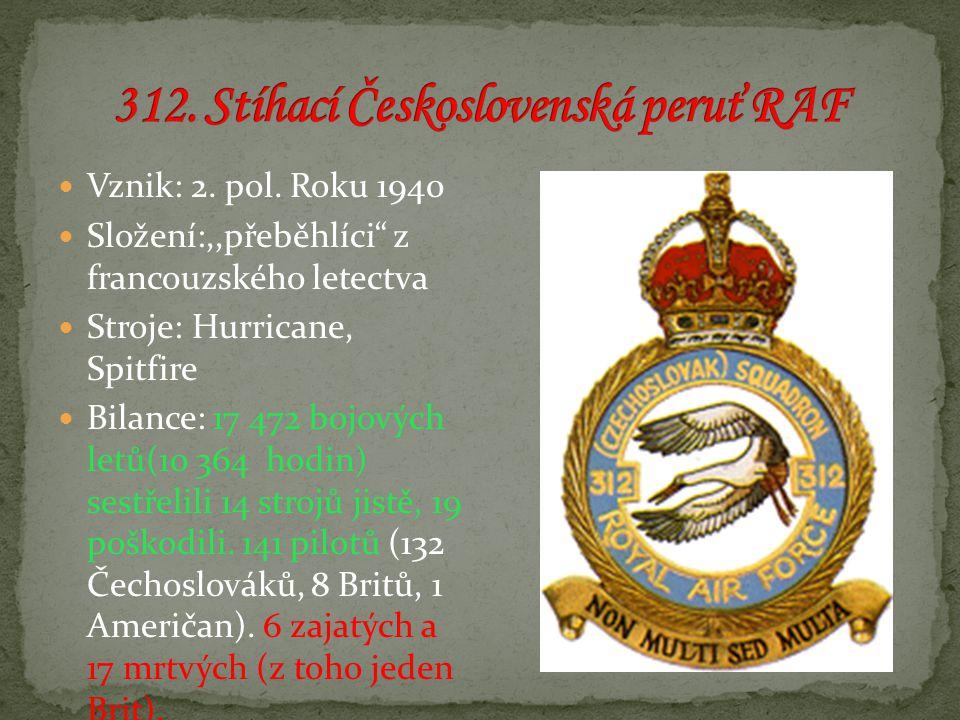 312. Stíhací Československá peruť RAF