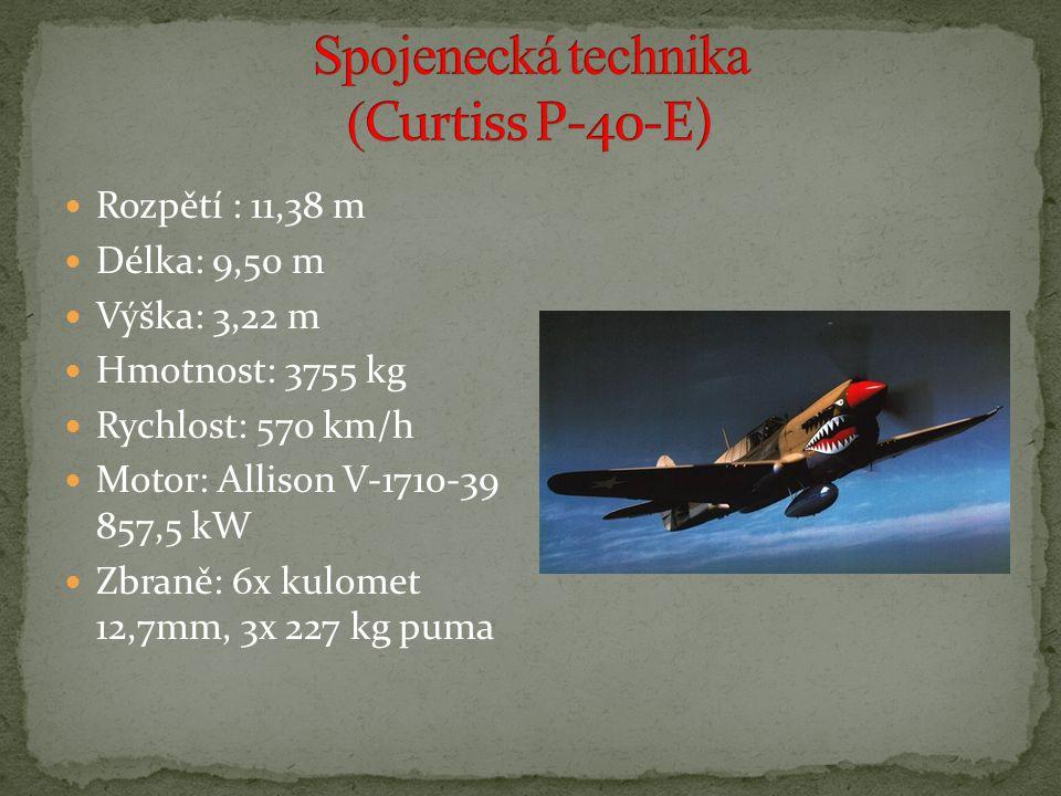 Spojenecká technika (Curtiss P-40-E)