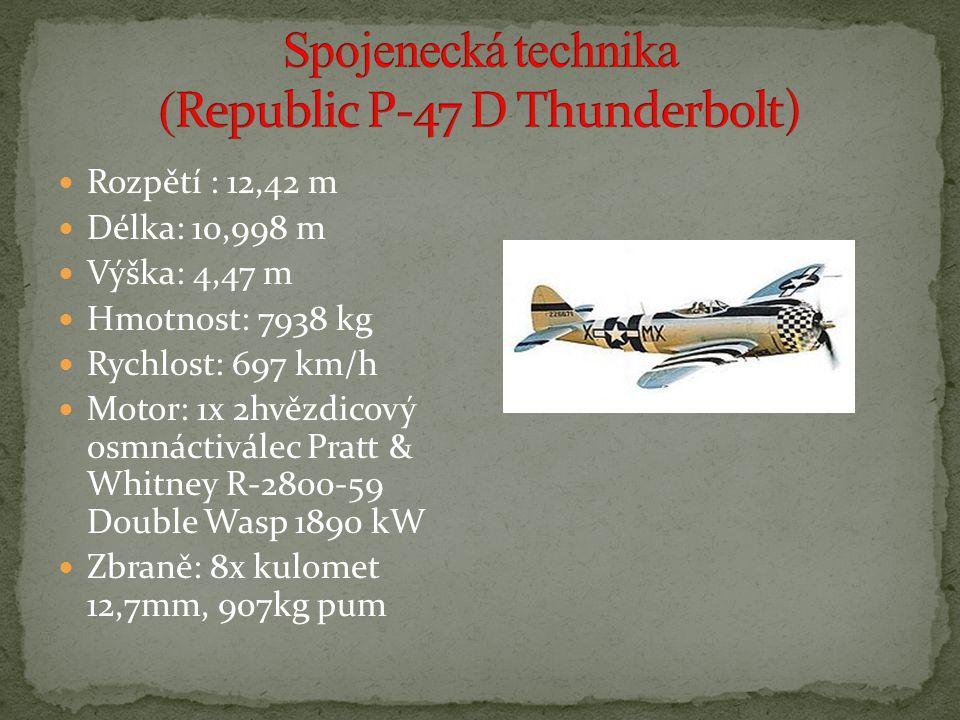 Spojenecká technika (Republic P-47 D Thunderbolt)