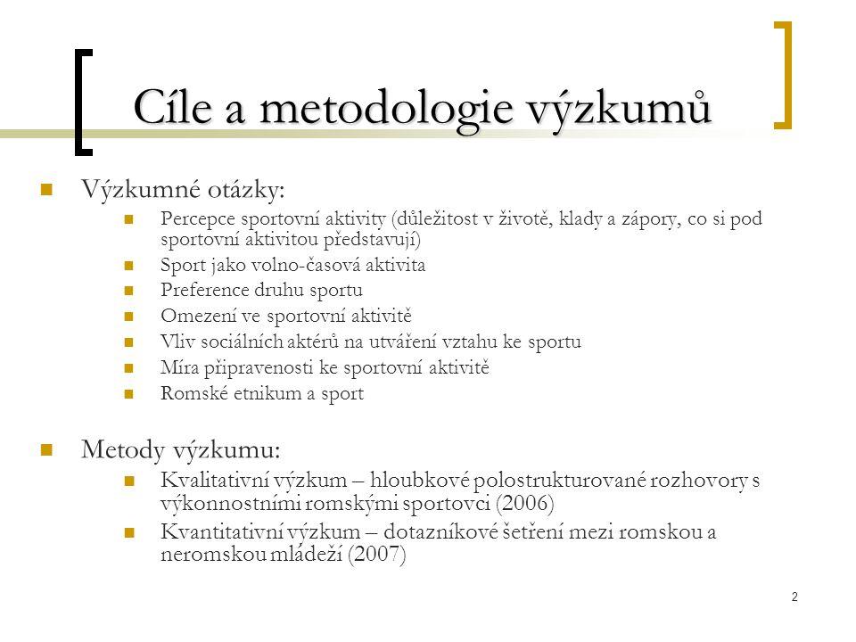 Cíle a metodologie výzkumů