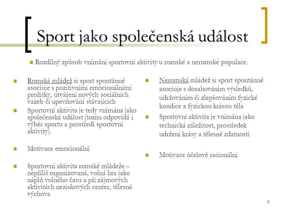 Sport jako společenská událost