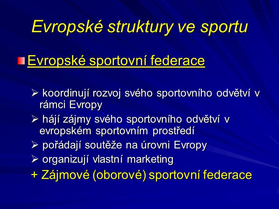 Evropské struktury ve sportu