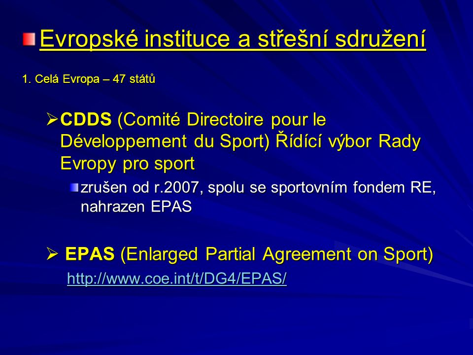 Evropské instituce a střešní sdružení