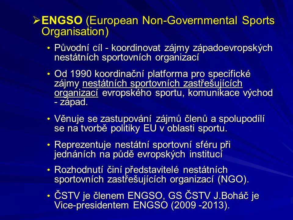 ENGSO (European Non-Governmental Sports Organisation)