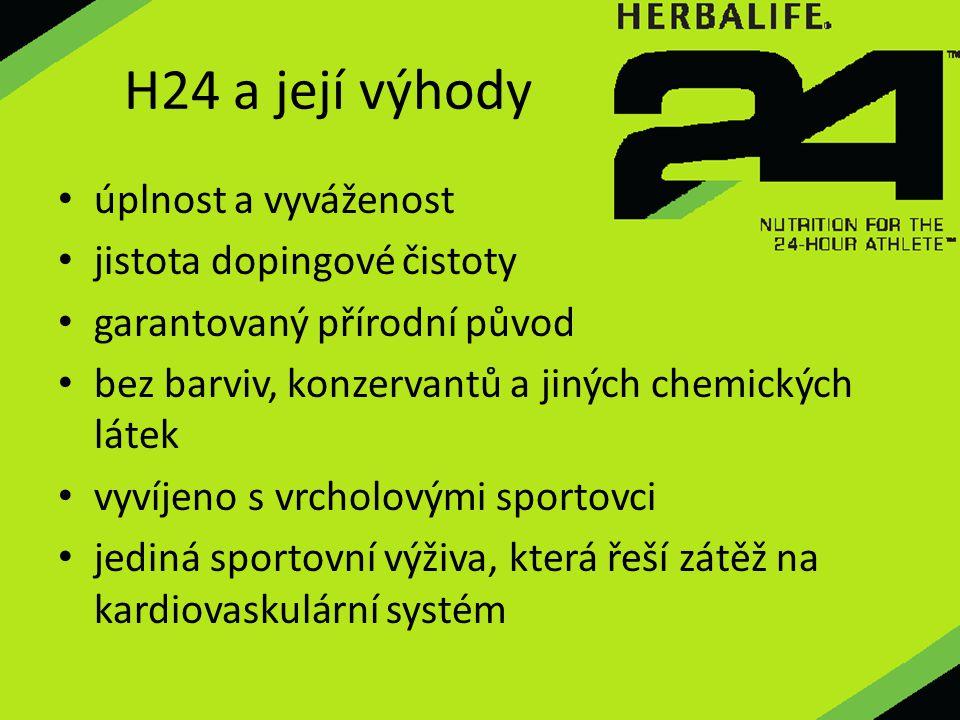 H24 a její výhody úplnost a vyváženost jistota dopingové čistoty