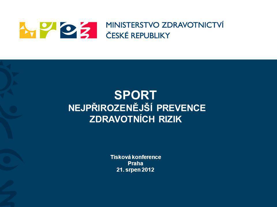 SPORT NEJPŘIROZENĚJŠÍ PREVENCE ZDRAVOTNÍCH RIZIK Tisková konference Praha 21. srpen 2012