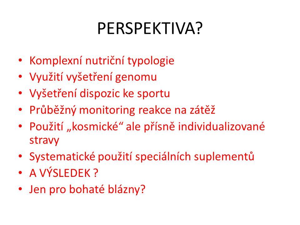 PERSPEKTIVA Komplexní nutriční typologie Využití vyšetření genomu