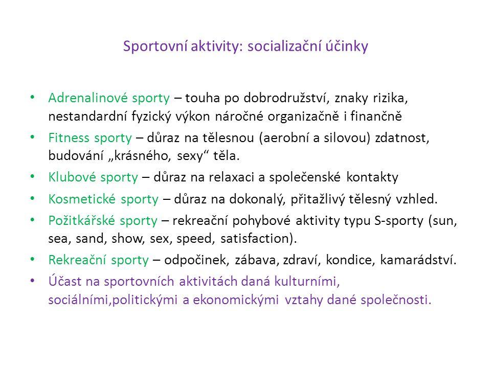 Sportovní aktivity: socializační účinky