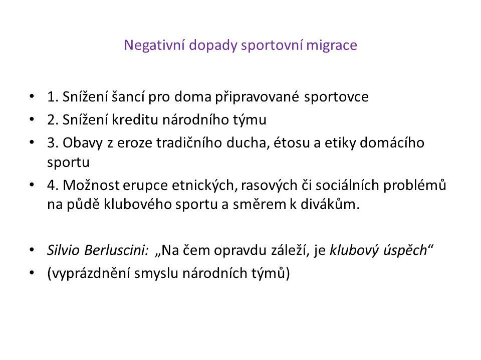Negativní dopady sportovní migrace