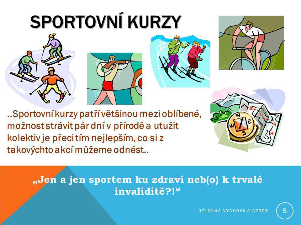 """""""Jen a jen sportem ku zdraví neb(o) k trvalé invaliditě !"""