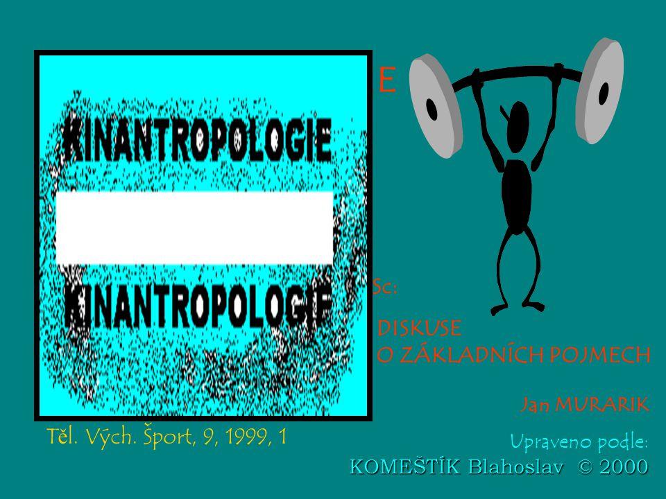 KINANTROPOLOGIE Sport Sciences doc. PhDr. Blahoslav KOMEŠTÍK, CSc: