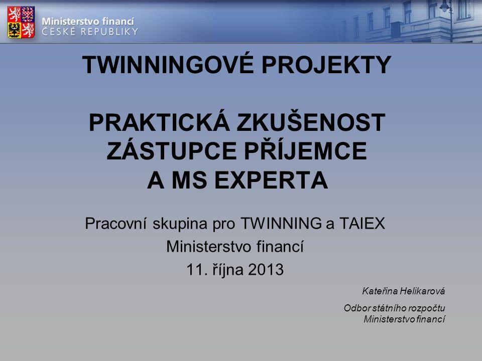 Pracovní skupina pro TWINNING a TAIEX