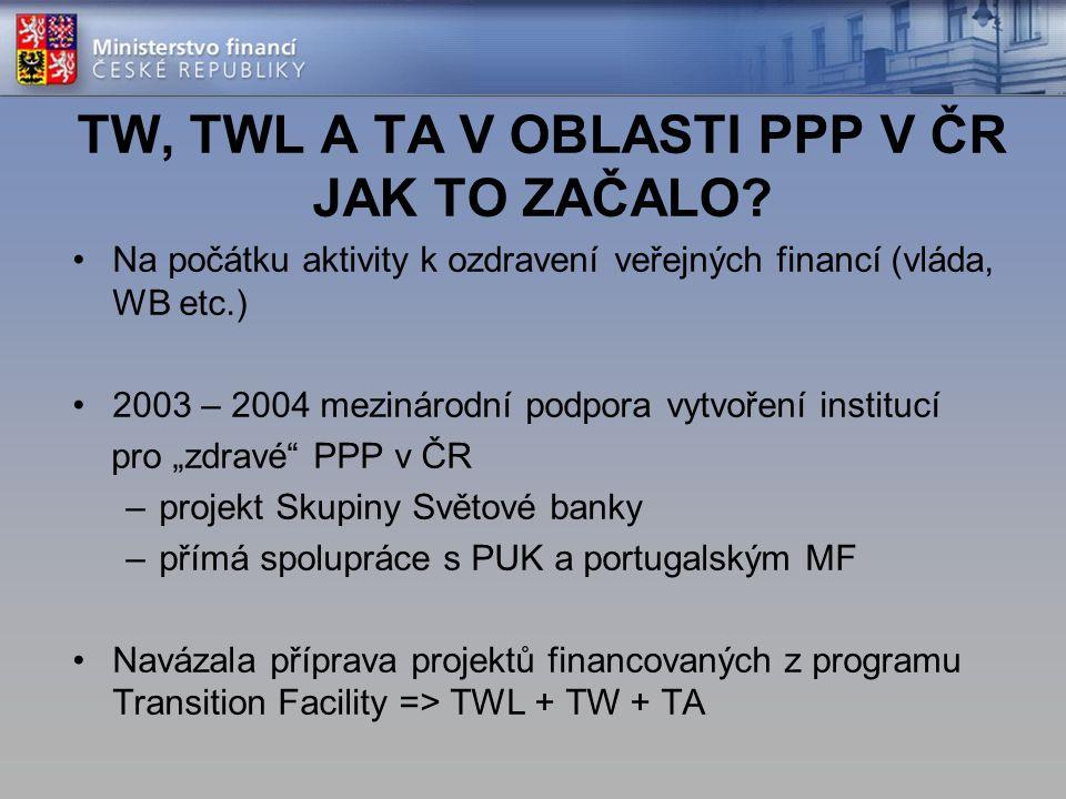 TW, TWL A TA V OBLASTI PPP V ČR JAK TO ZAČALO