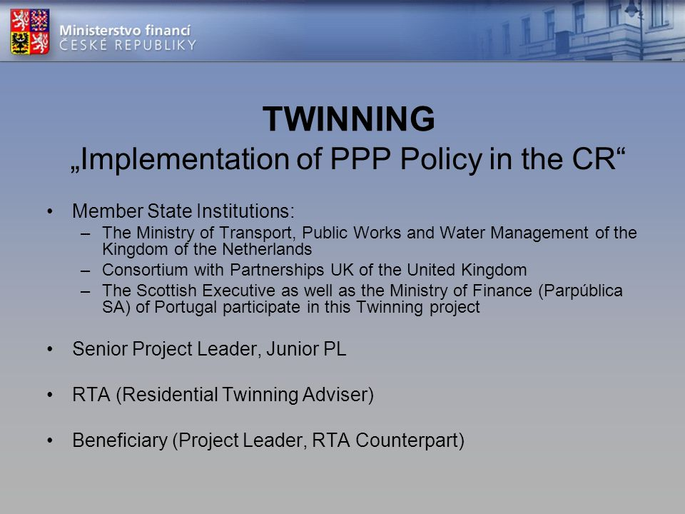 """Implementation of PPP Policy in the CR"