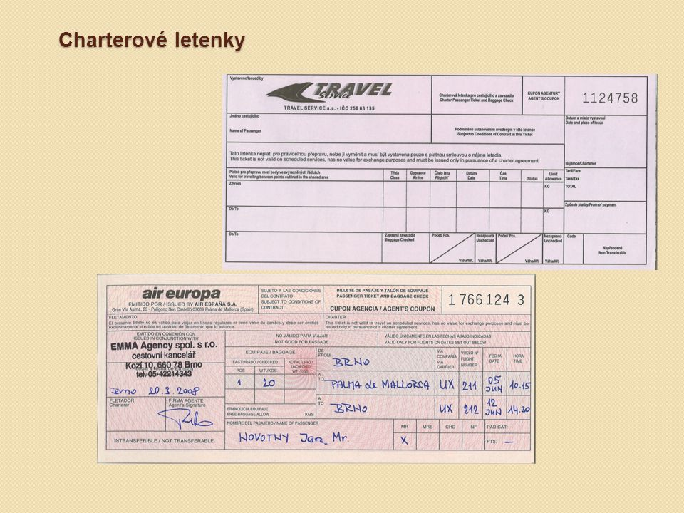 Charterové letenky