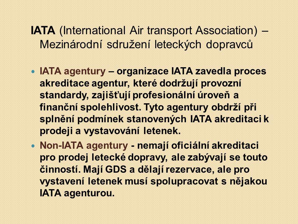 IATA (International Air transport Association) – Mezinárodní sdružení leteckých dopravců