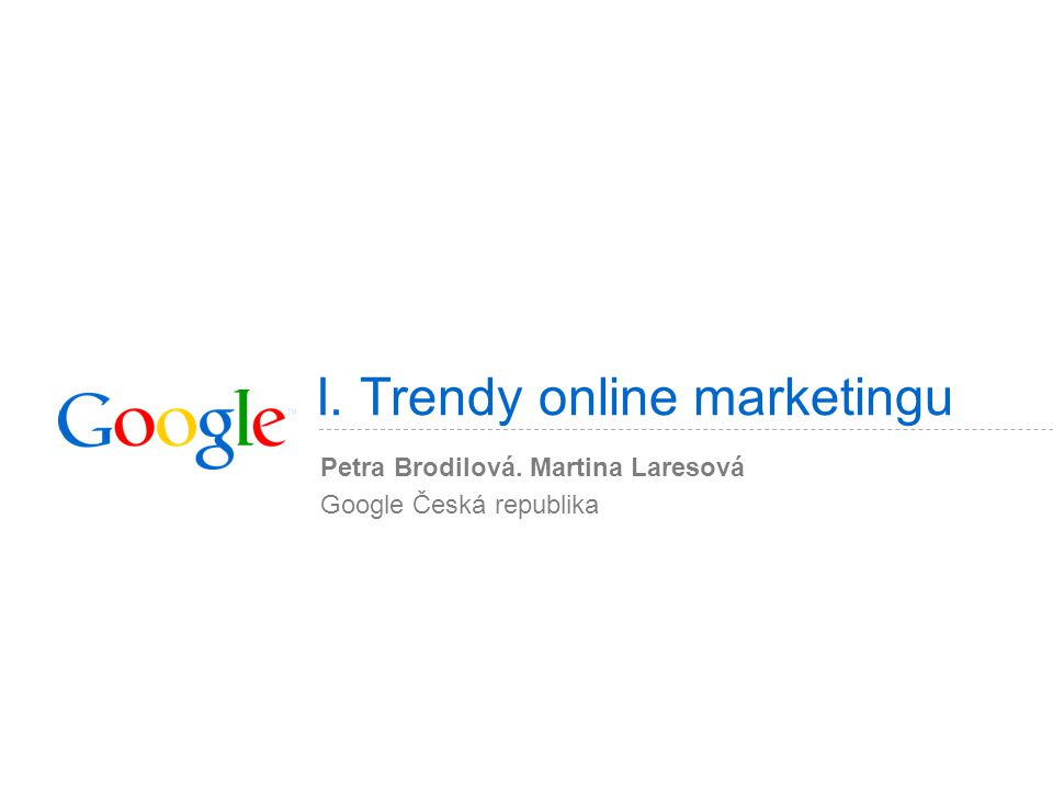 I. Trendy online marketingu