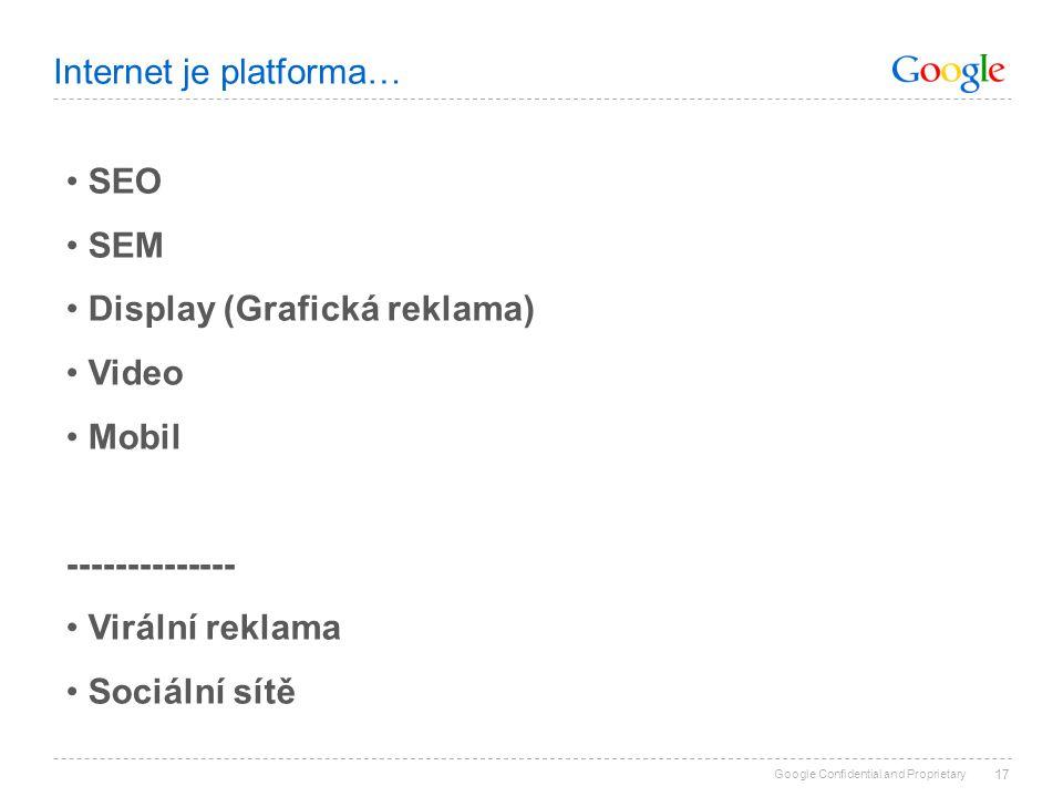 Internet je platforma…