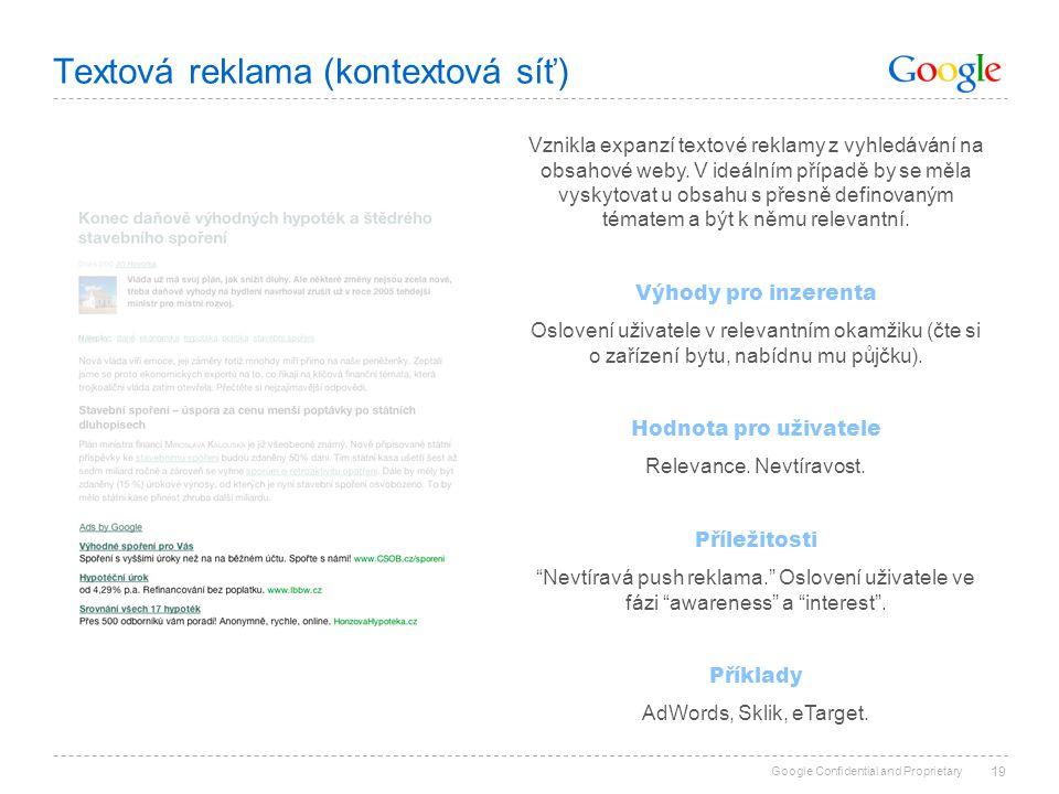 Textová reklama (kontextová síť)