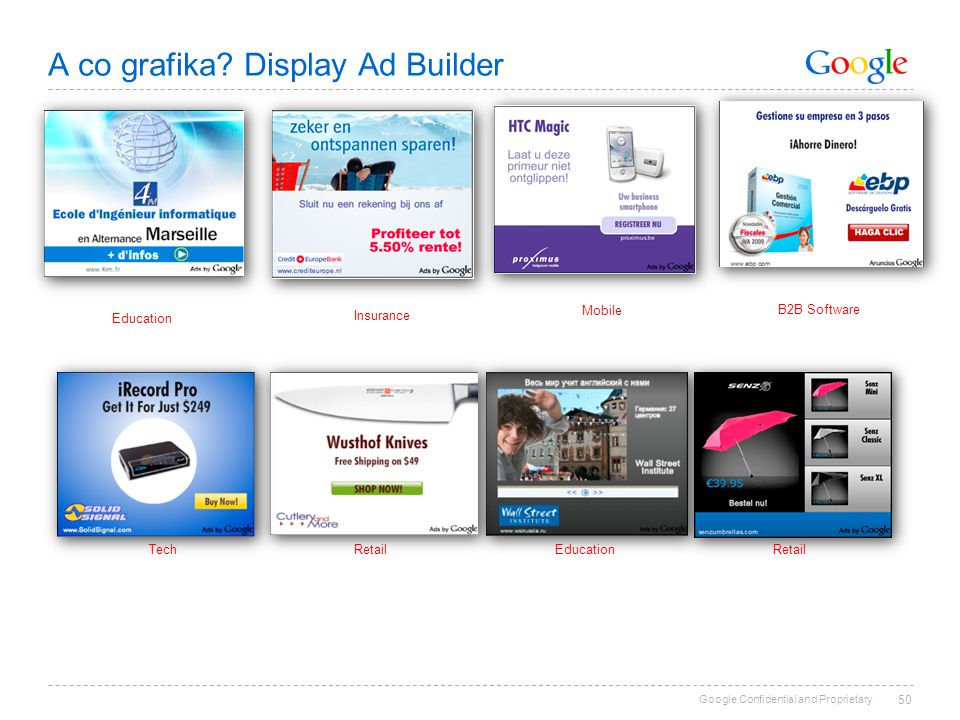 A co grafika Display Ad Builder