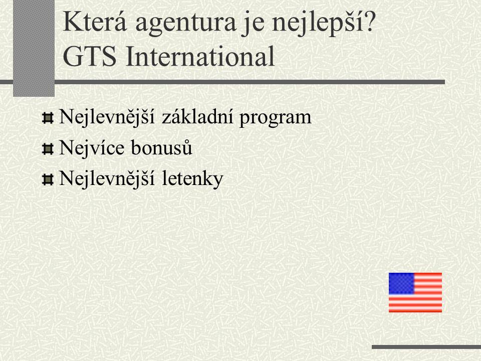 Která agentura je nejlepší GTS International
