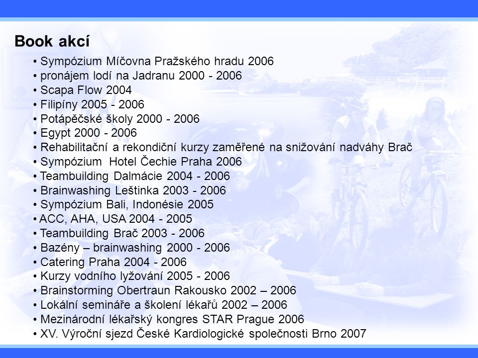 Book akcí Sympózium Míčovna Pražského hradu 2006