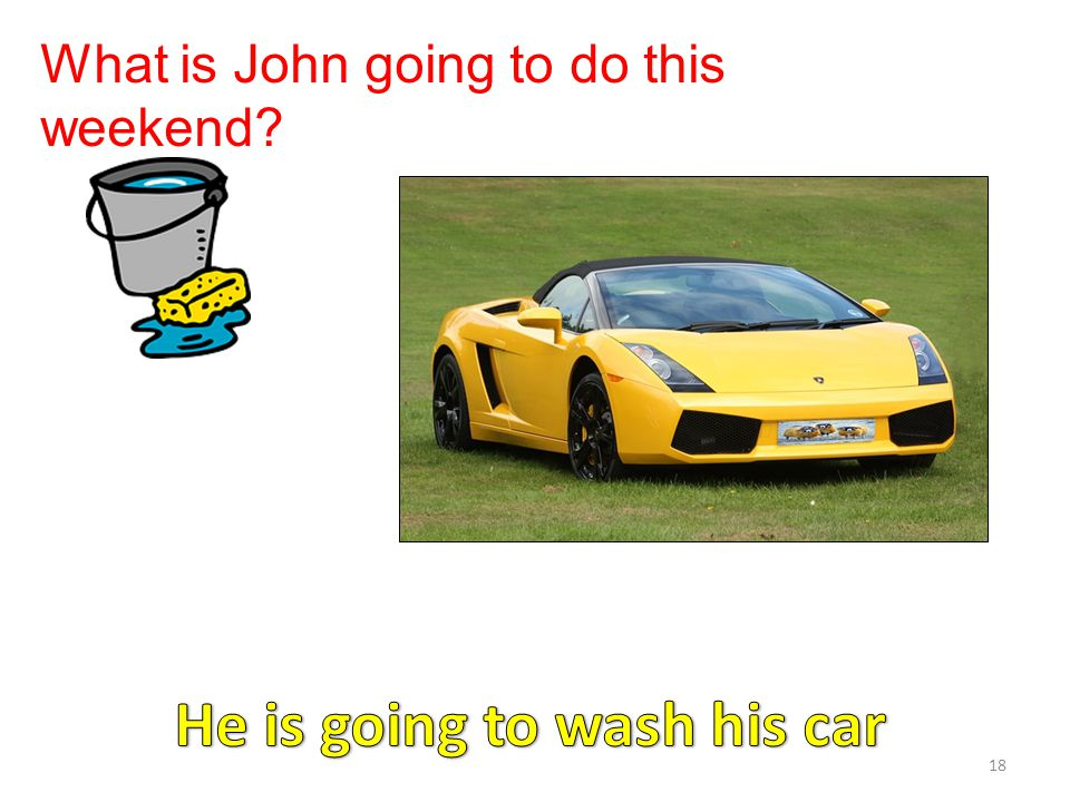 He is going to wash his car