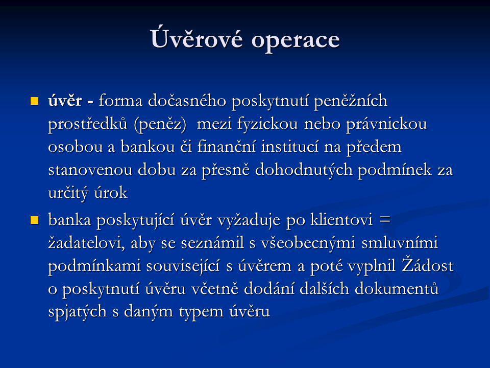 Úvěrové operace