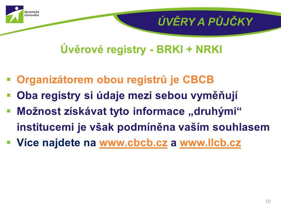 Úvěrové registry - BRKI + NRKI