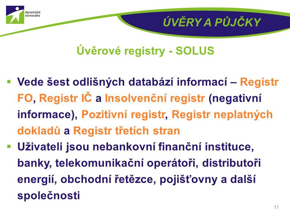 Úvěrové registry - SOLUS