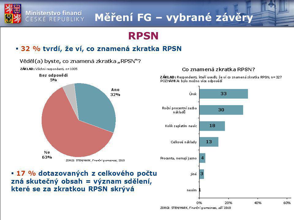 Měření FG – vybrané závěry