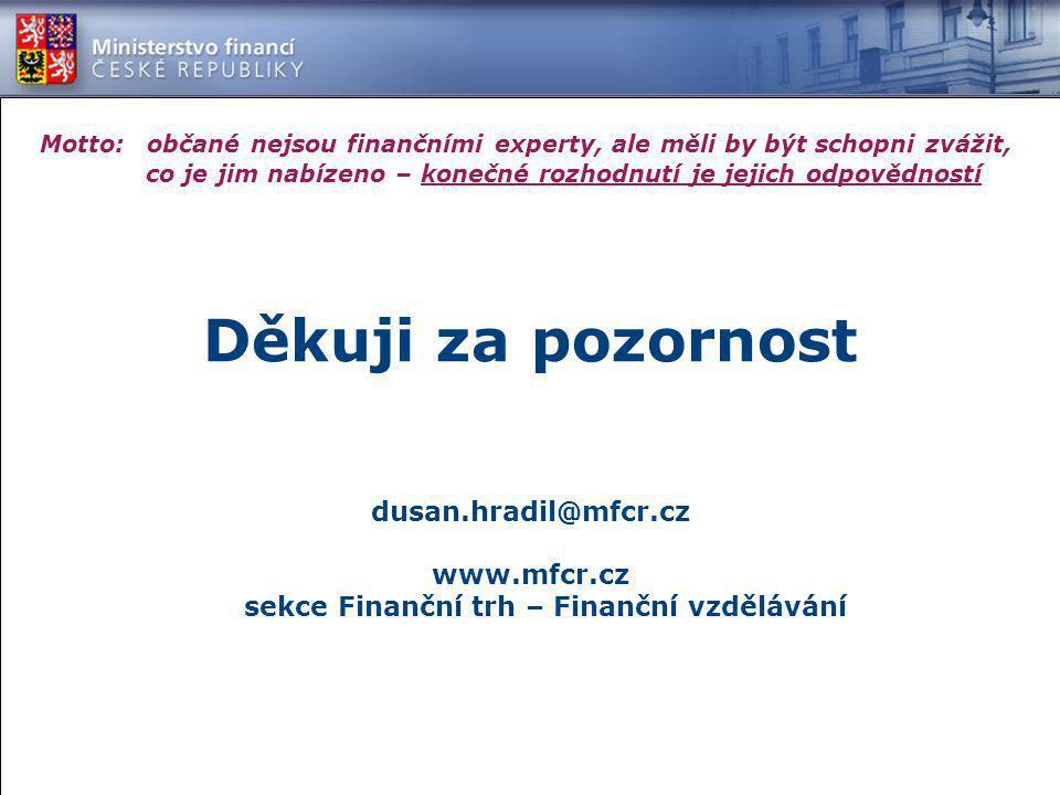 www.mfcr.cz sekce Finanční trh – Finanční vzdělávání