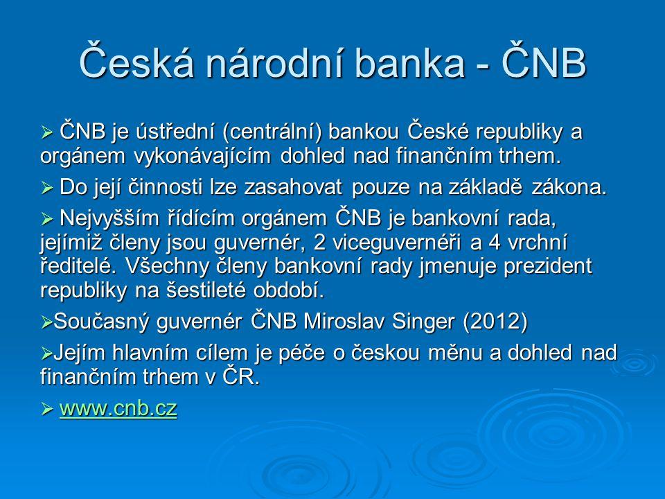 Česká národní banka - ČNB