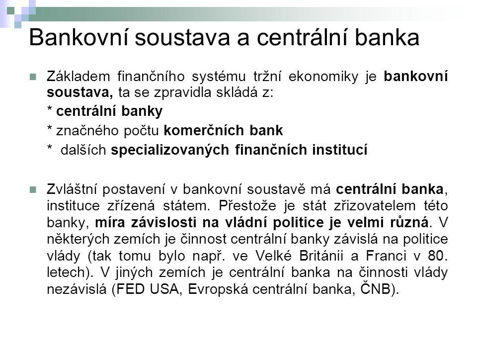 Bankovní soustava a centrální banka